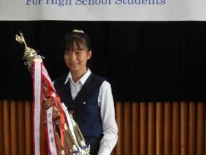 ▲優勝した松江北高2年木島翔子さん