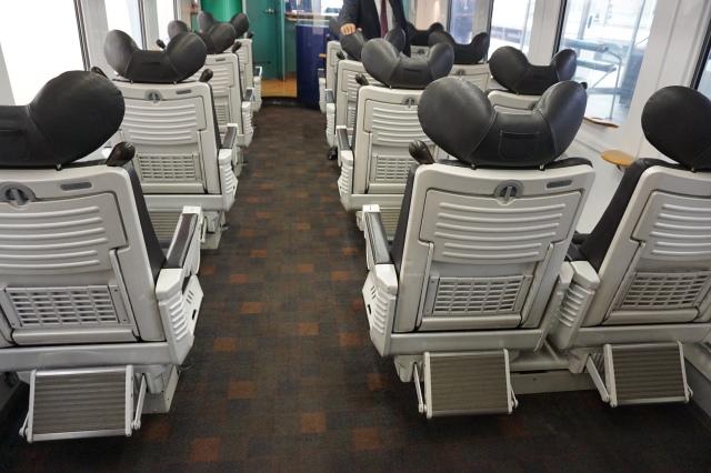 ▲特徴的な座席シート