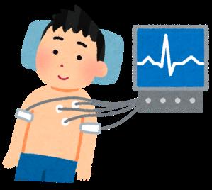 心臓検診のイラスト(学校の健康診断)