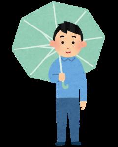 傘をさした男性のイラスト